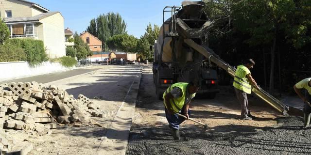 La Operación Asfalto incluirá los aparcamientos ecológicos de Residencial Las Eras